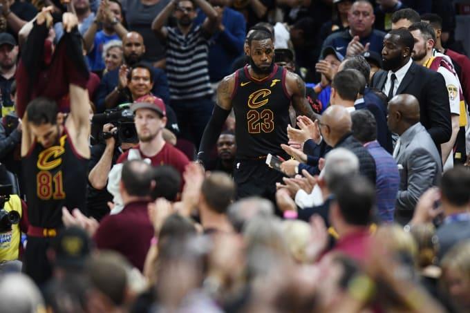 LeBron James Game 4 NBA Finals 2018 Exit