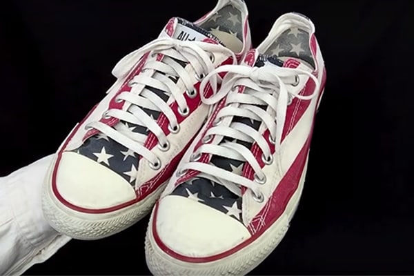 6a78a7476c8 A Pair of the Stars and Bars Pair Made for the Shoe s 75th Anniversary is  in The Smithsonian
