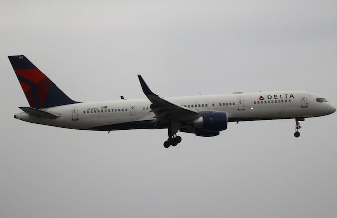 A Delta Airlines airplane.