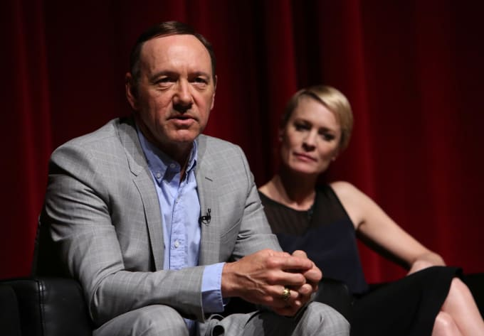 Kevin Spacey and Robin Wright attend 'House of Cards' Q&A