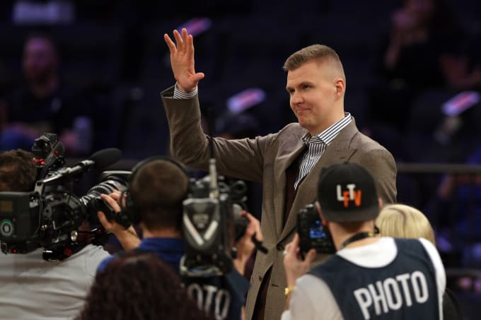 Kristaps Porzingis Knicks Mavs 2018