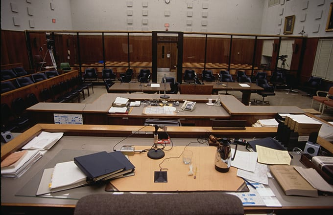 This is a photo of a court room.