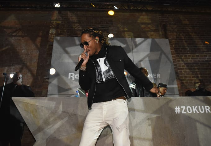 Future performing at Reebok's ZOKU Runner launch party in London.