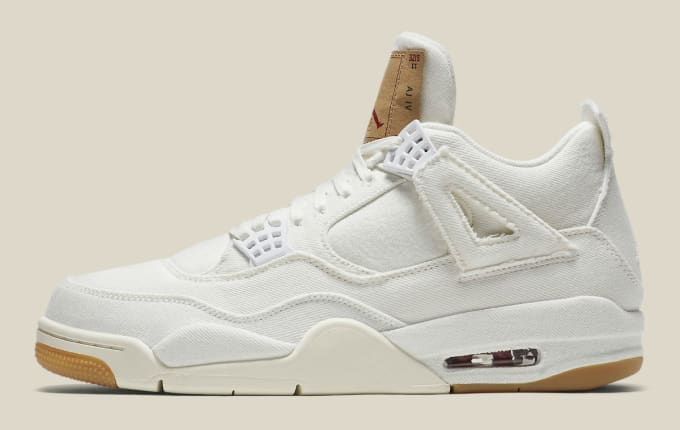 Levi s x Air Jordan 4 White Demin Release Date AO2571-100 Profile c41271730
