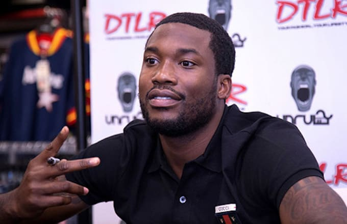 Meek Mill attends his 'Wins And Losses' album signing