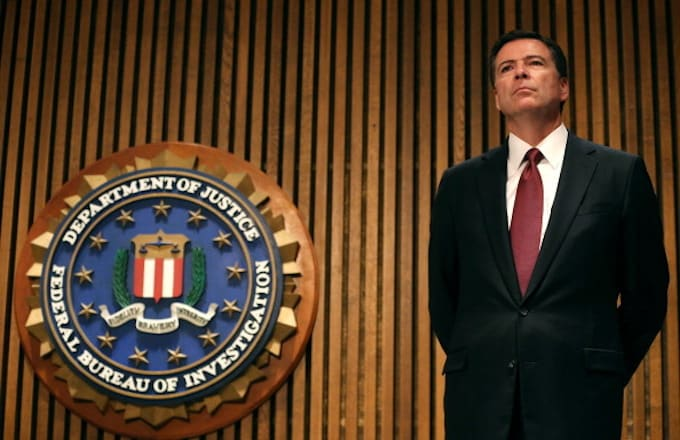 James Comey participates in a news conference on child sex trafficking