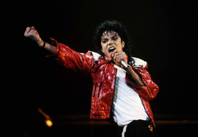 Michael Jackson performing in 1986