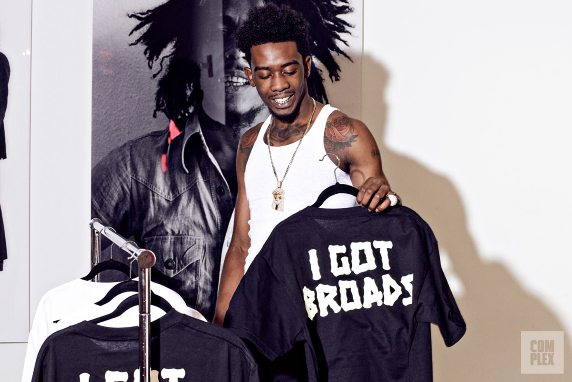 Desiigner previews merch created by Bravado.