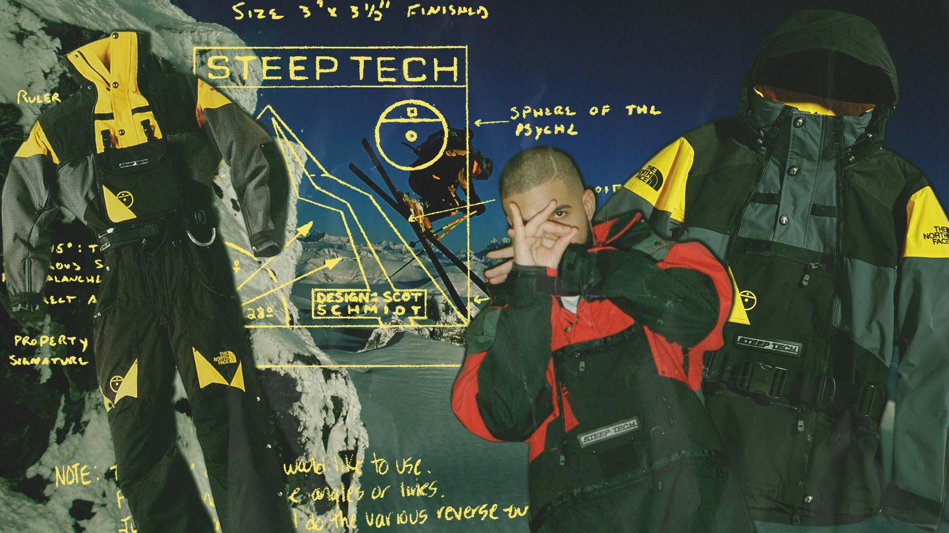 The North Face Steep Tech Collage