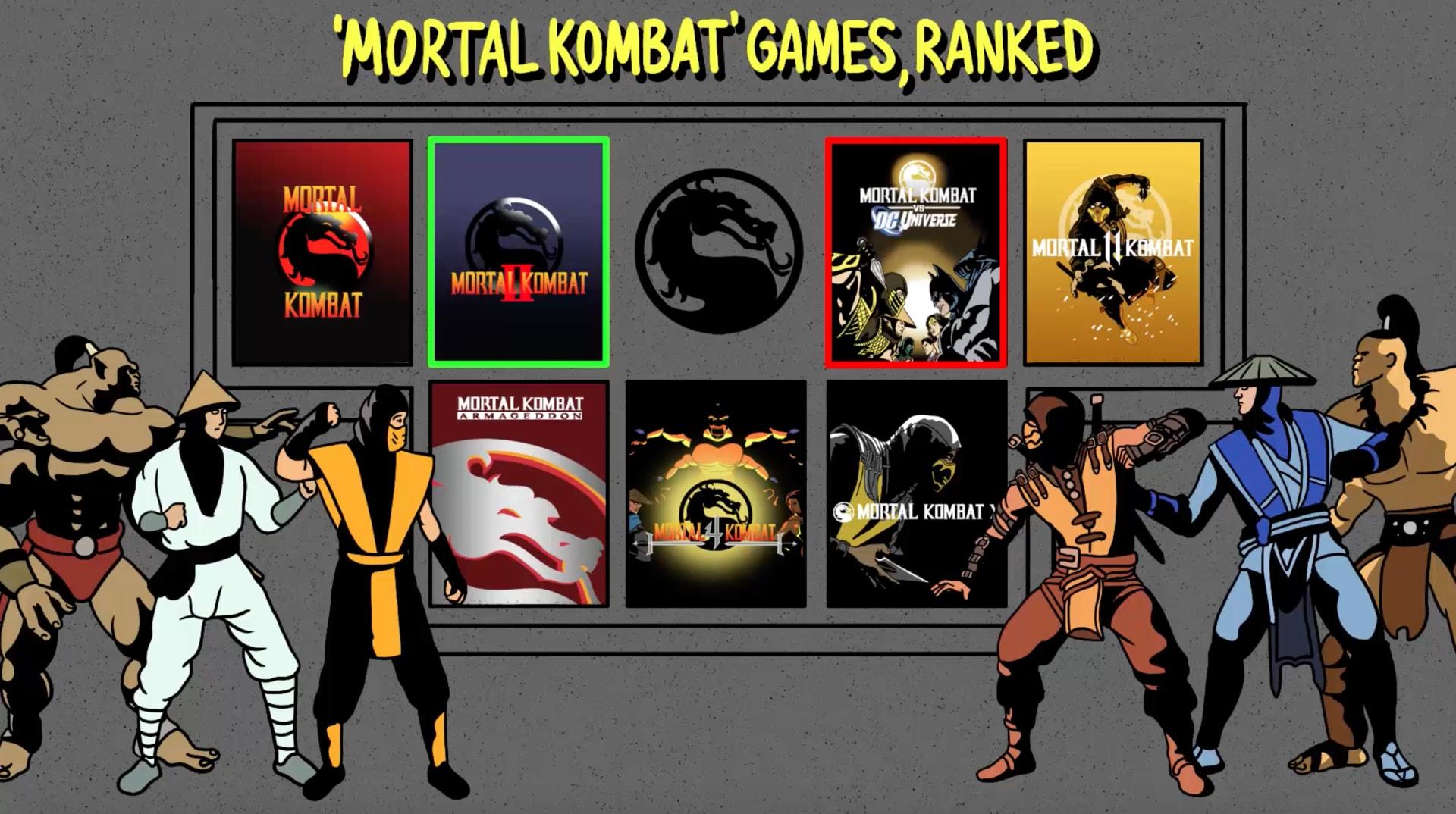 Mortal Kombat Video Games Ranked