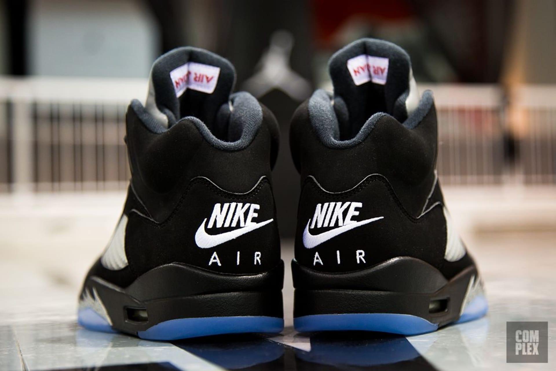 Air Jordan 5 Black Metallic Heel