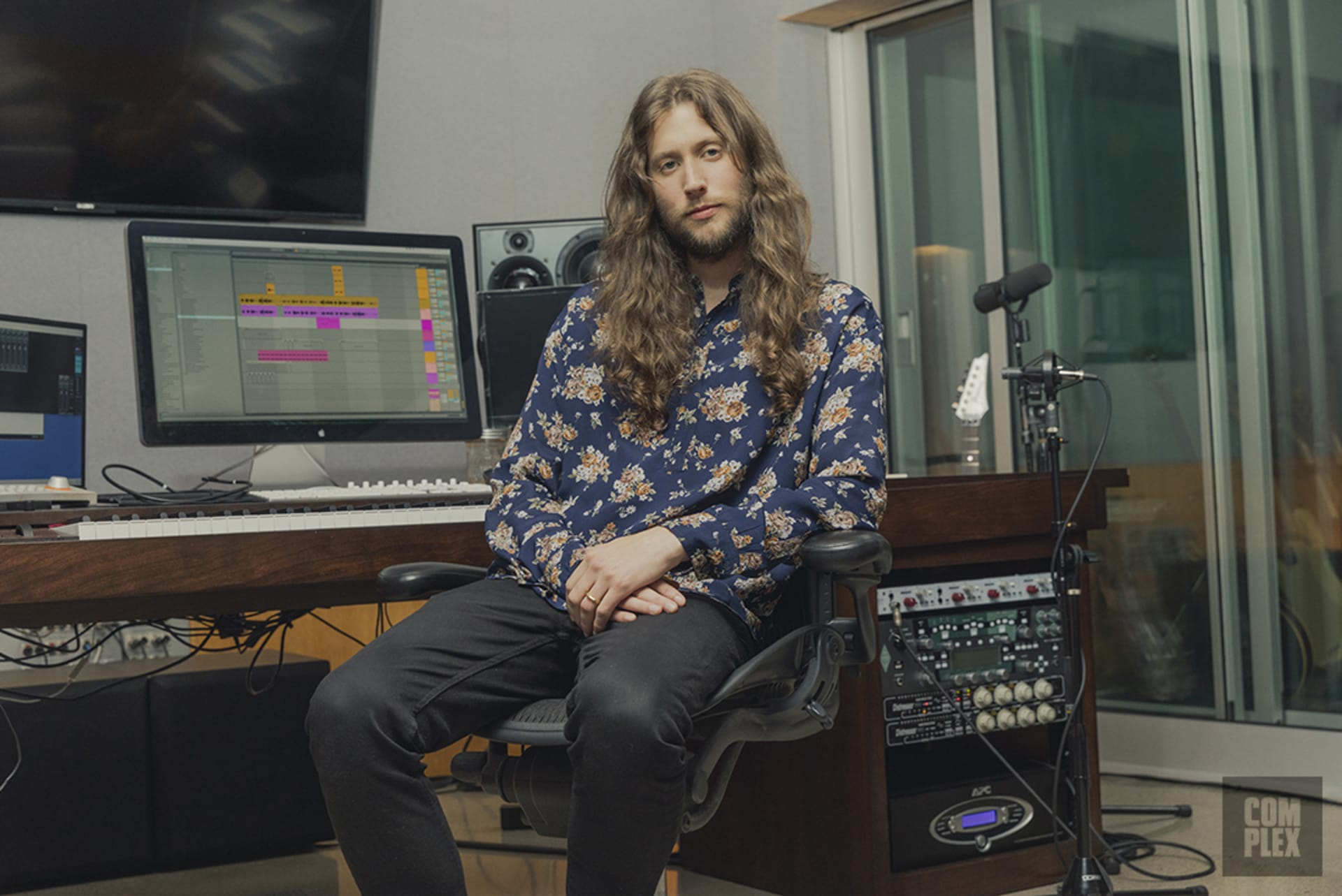 Ludwig Göransson in his Glendale studio.