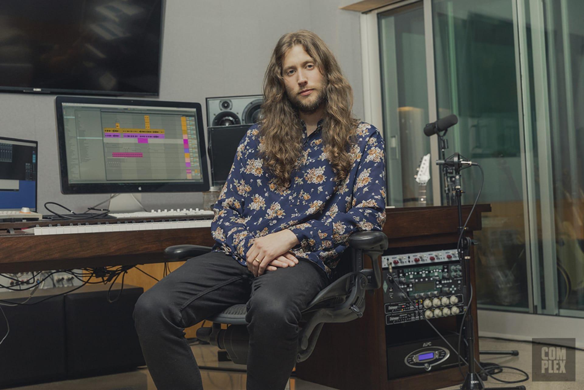 Ludwig Göransson in his Glendale studio.