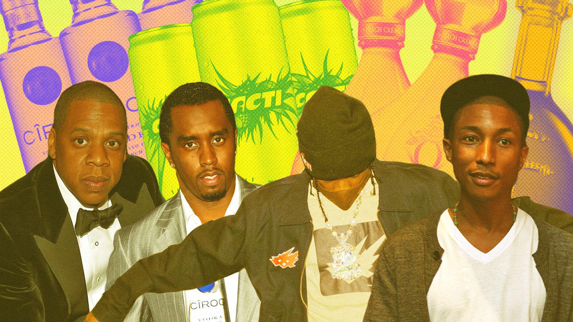 Jay-Z, Diddy, Travis Scott, Celebrity Liquor Brands