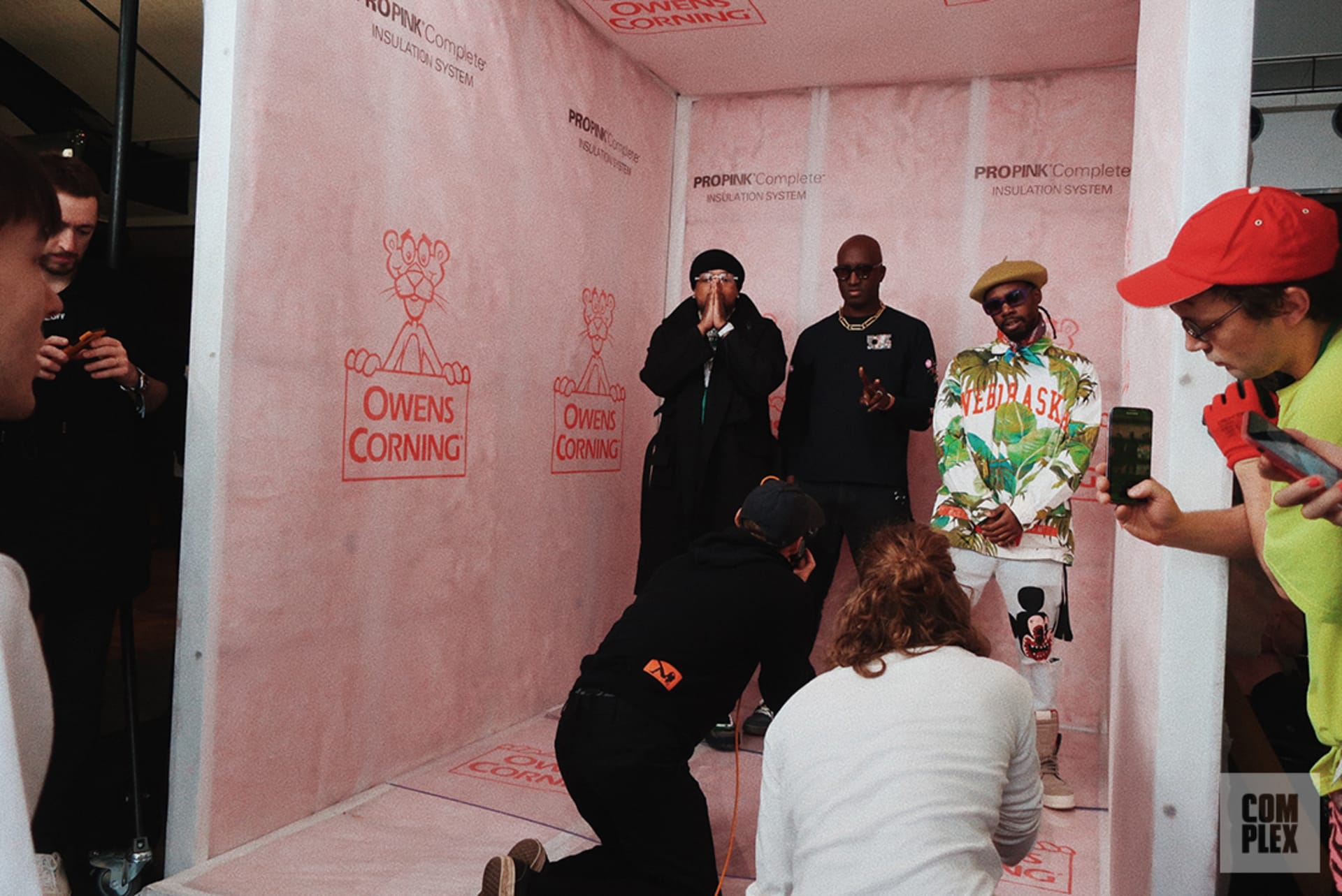 Complex Backstage With Westside Gunn and Virgil Abloh at Off White Fall Winter 2020 Runway Show