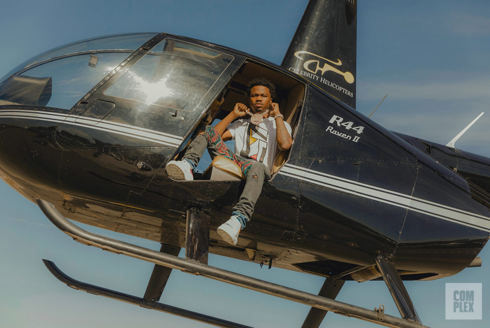 Roddy Ricch poses for his Complex interview