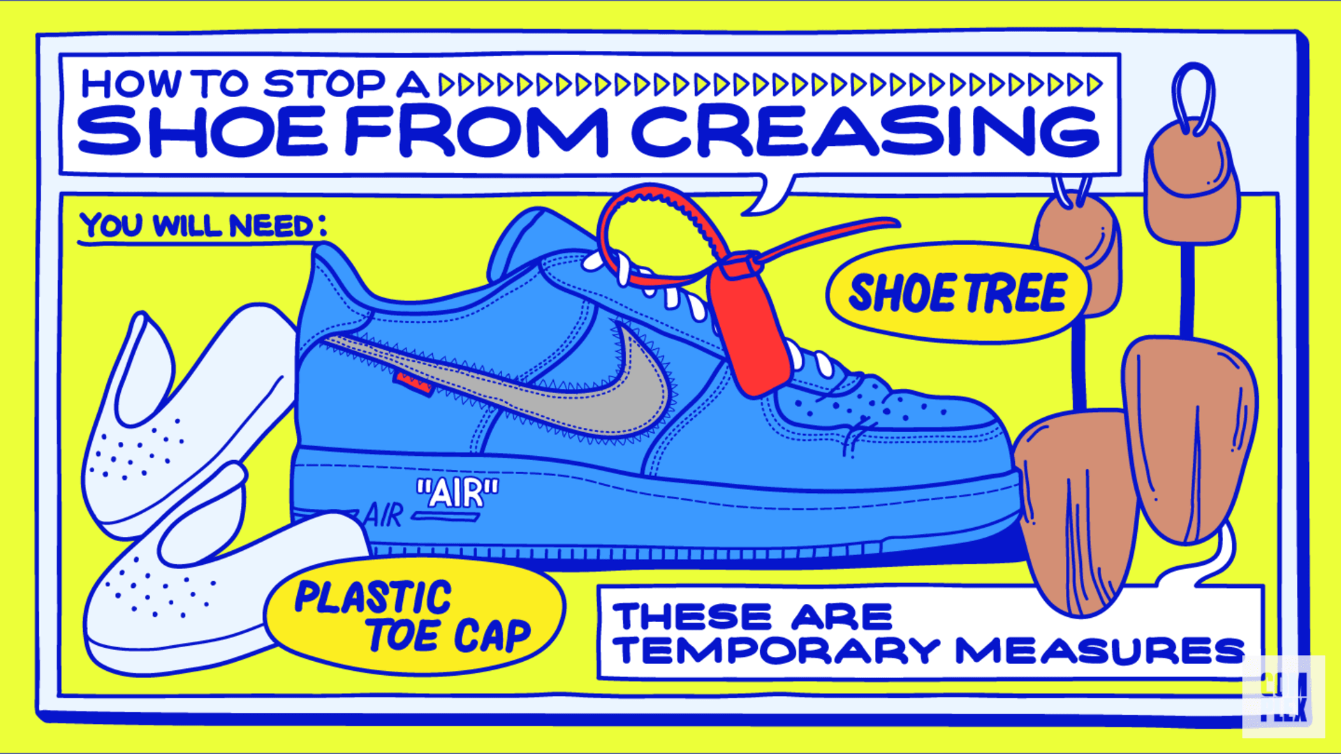 How to stop a shoe from creasing