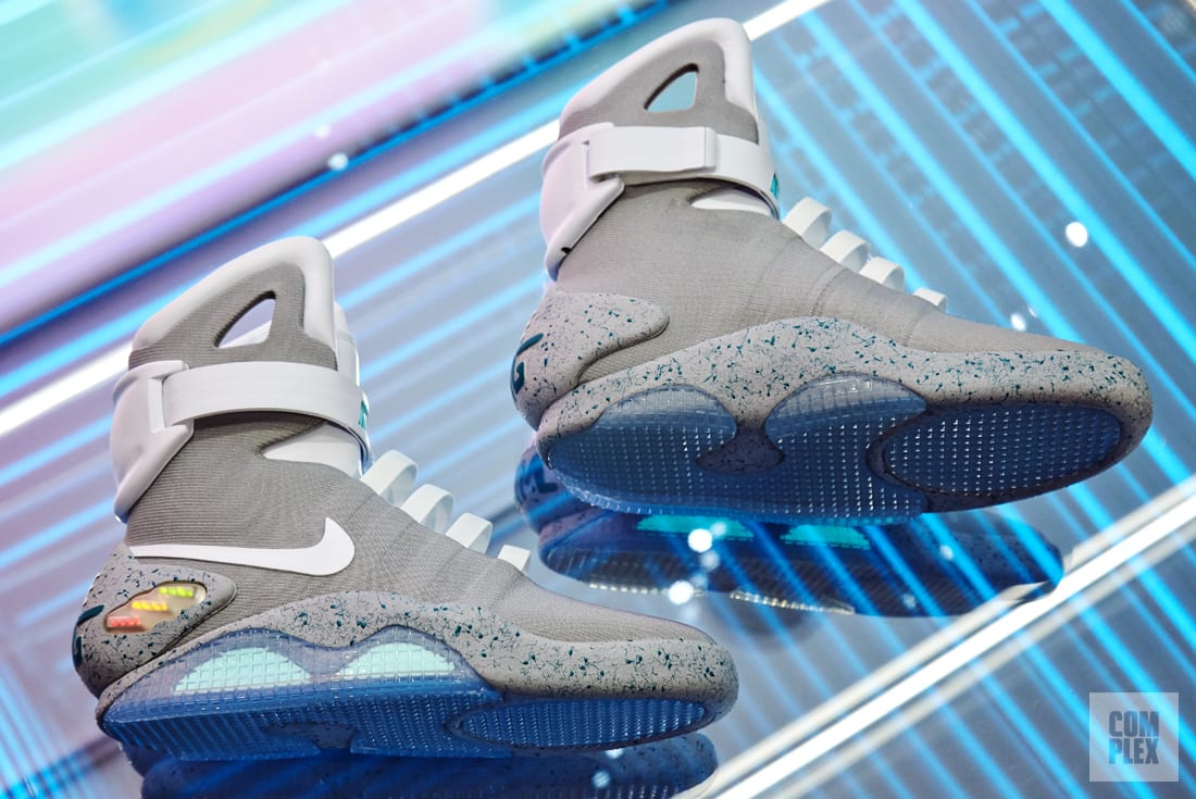 how the auto lacing nike mag became a reality complex uk. Black Bedroom Furniture Sets. Home Design Ideas