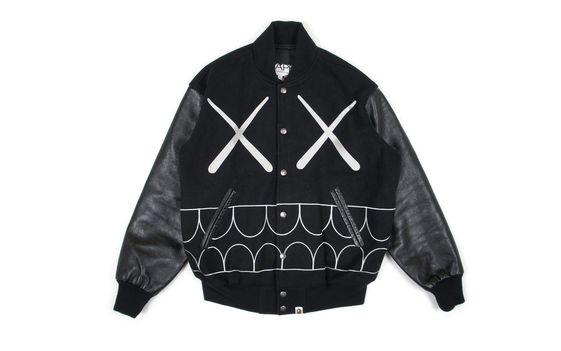 47f58ed4 Bape x Kaws Chomper Varsity Jacket