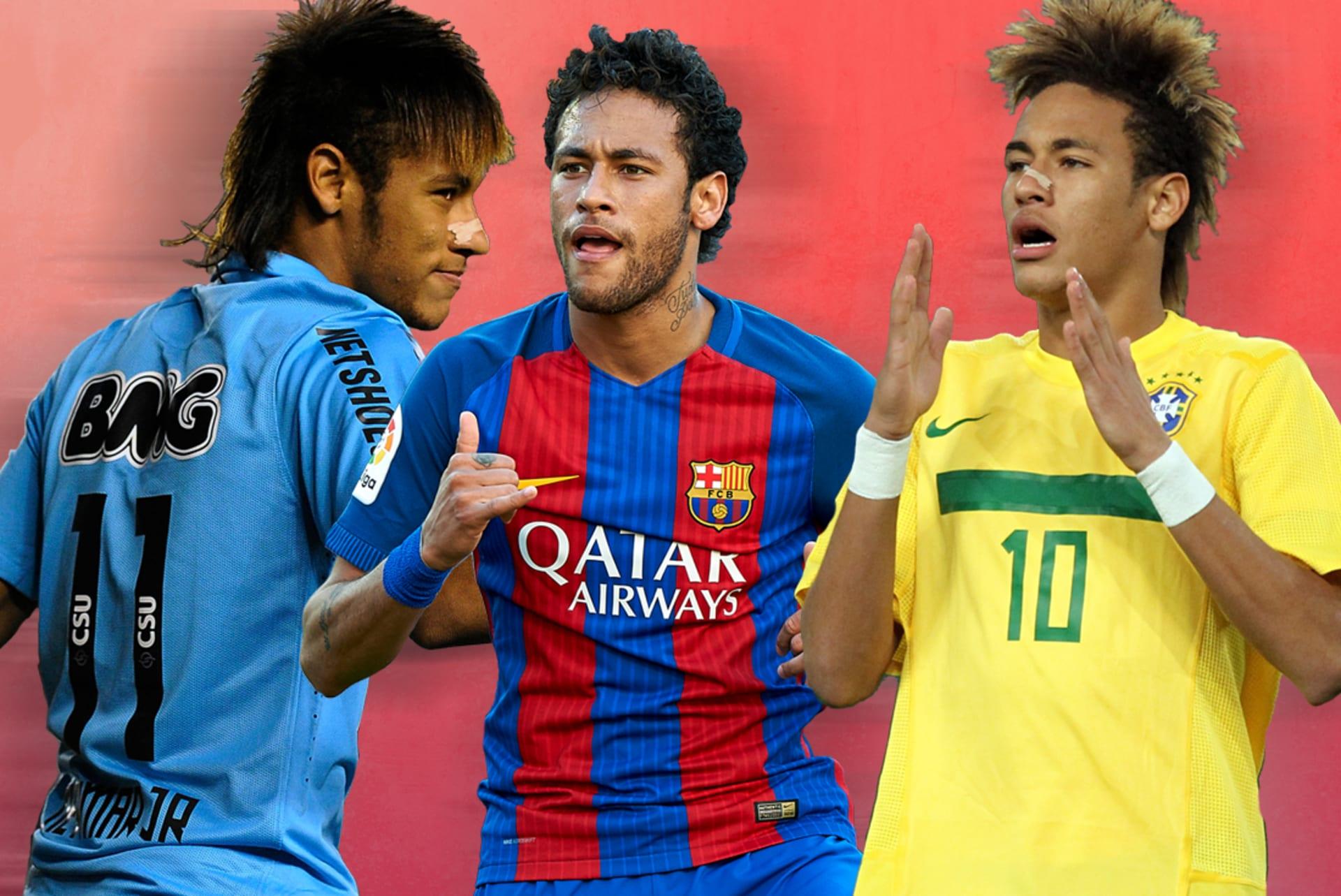 Neymar's Best Hair Moments