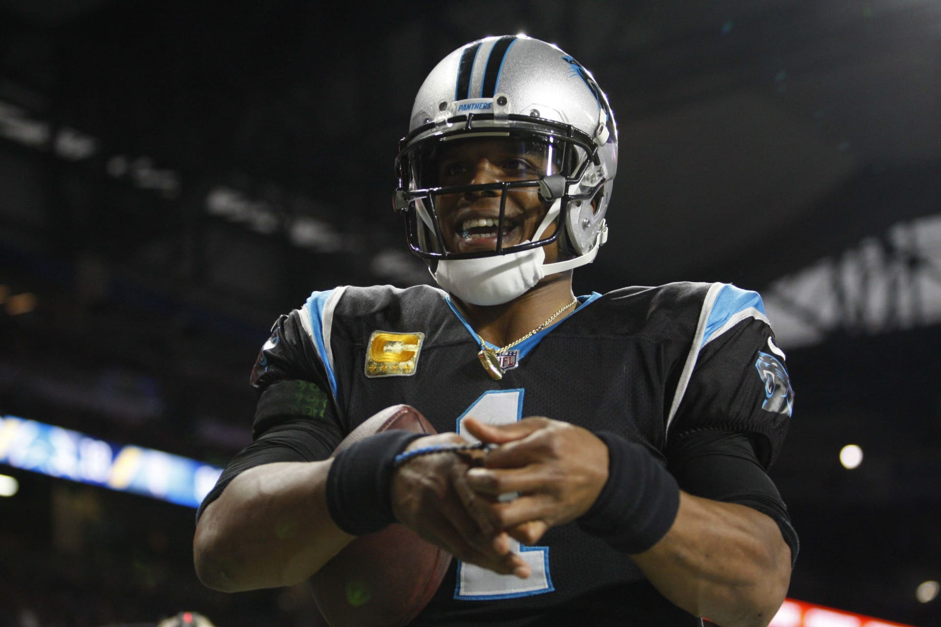 Cam Newton Panthers Lions 2018