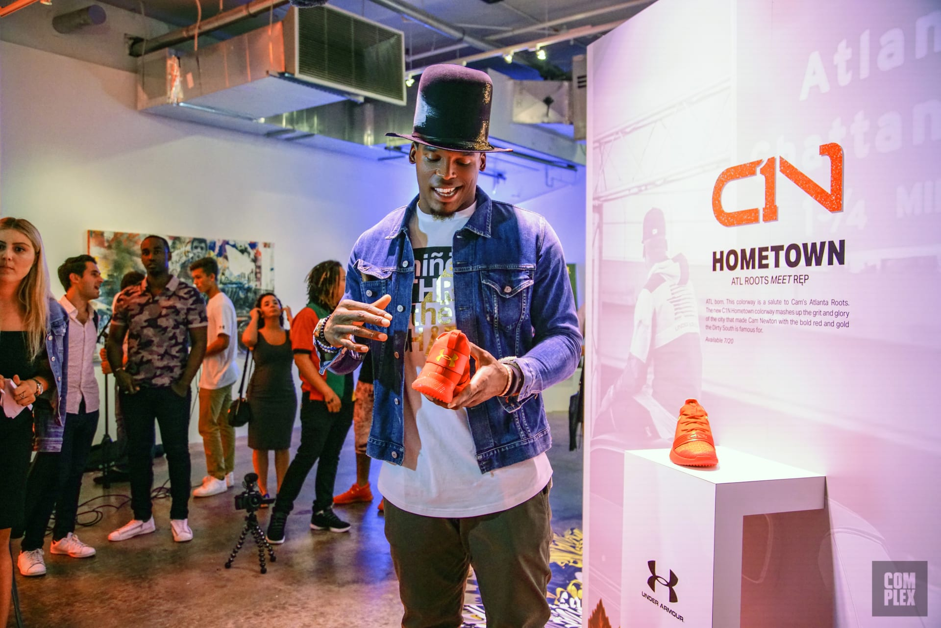 4265e0e899e Cam Newton Debuts Under Armour Lifestyle Shoe CN1 | Complex
