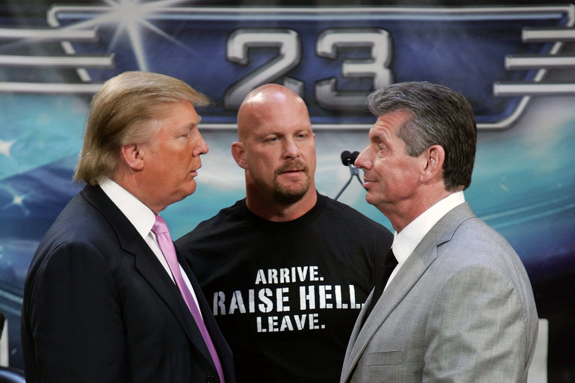 Stone Cold Steve Austin Donald Trump Vince McMahon WrestleMania 23