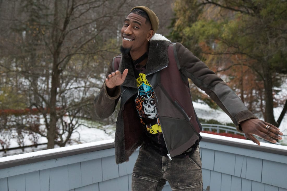Shumpert at his home in Pepper Pike, Cleveland.