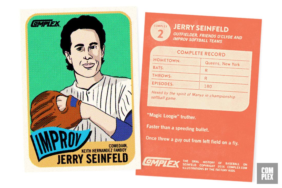 Jerry Seinfeld Baseball card OHOBOS Version 2