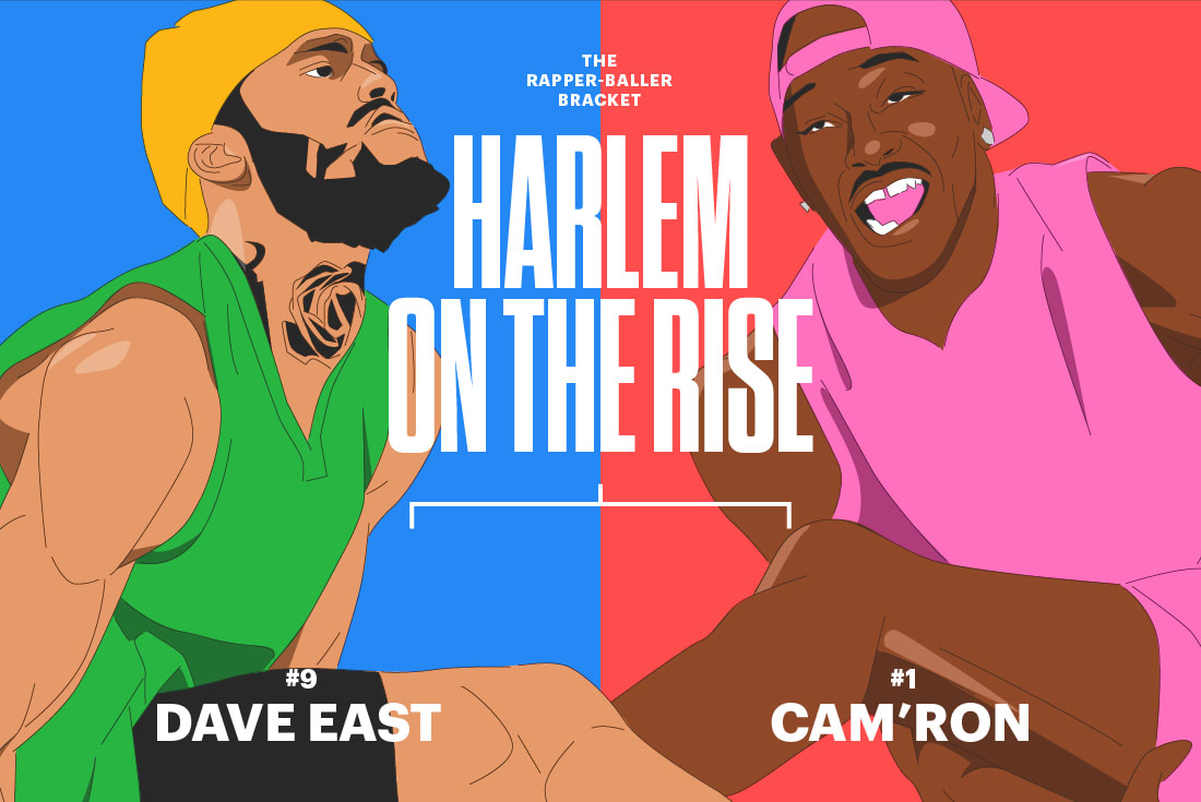 Cam'Ron Dave East Rapper Baller Bracket Elite 8