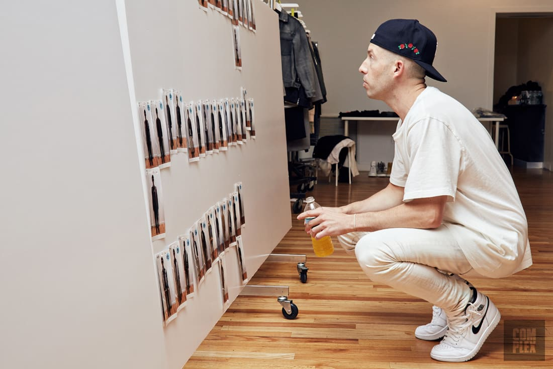 John Elliott at his NY showroom