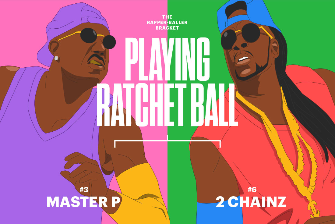 Master P 2 Chainz Rapper Baller Bracket Elite 8