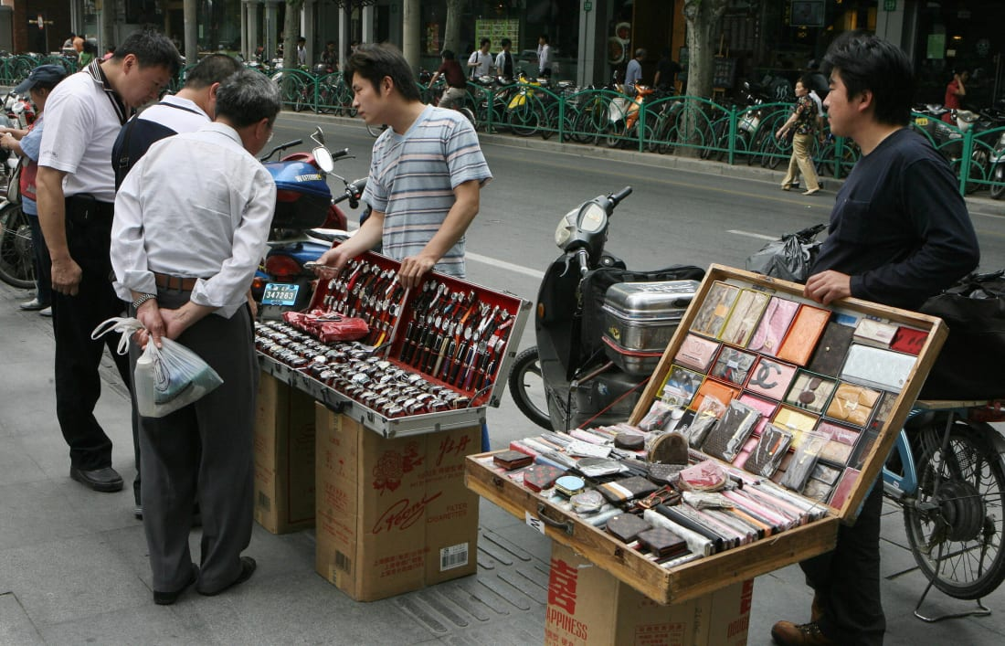 Fakes for sale in China