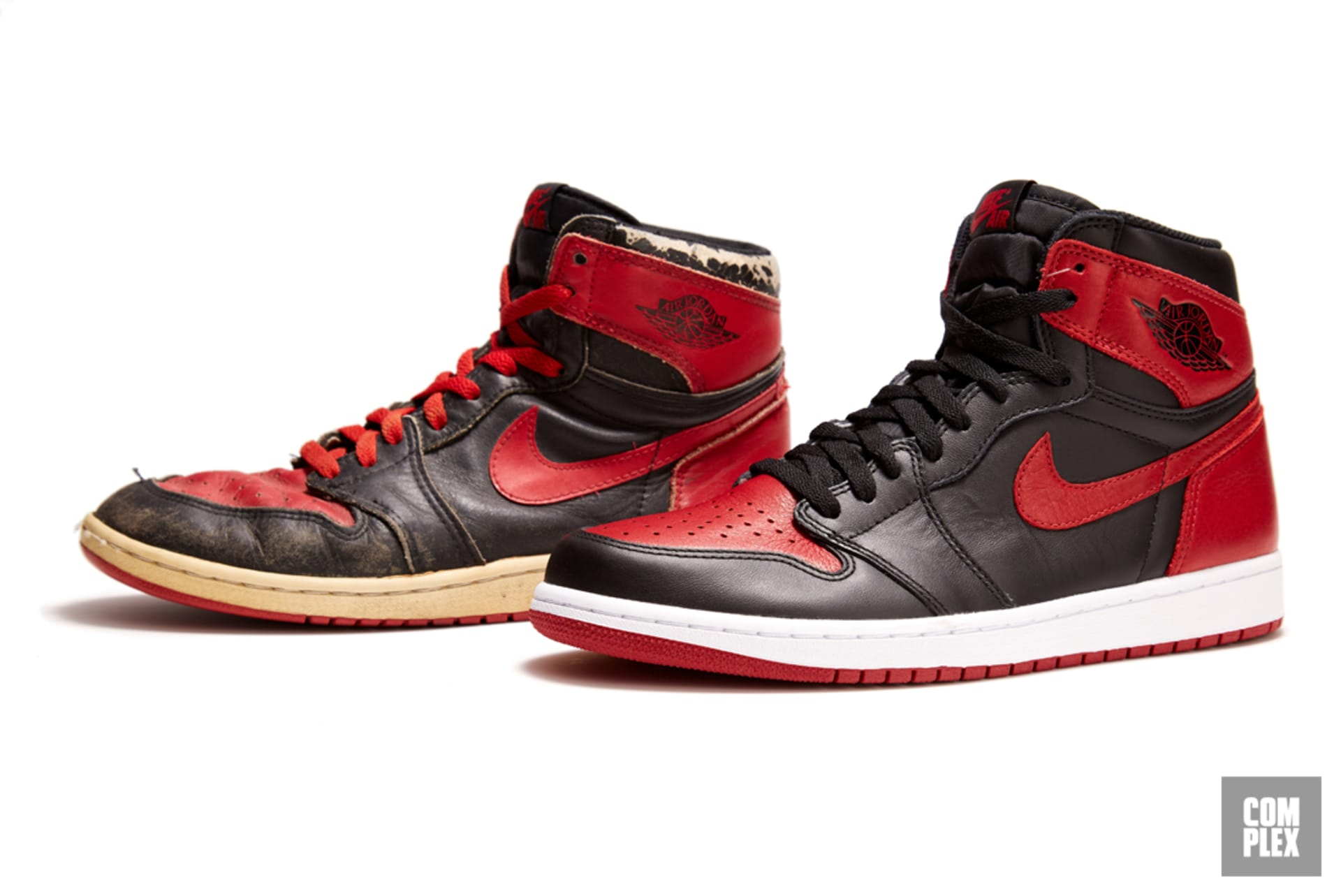 d2adb3fc8f4278 The Evolution of the Black and Red Air Jordan 1