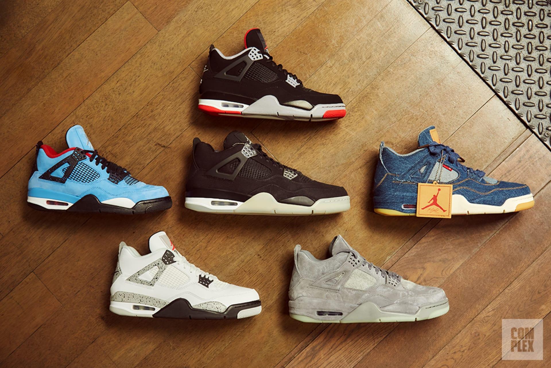 sports shoes e9ad2 d563e Variety of Air Jordan IVs. Image via Complex Original David Cabrera. All  sneakers courtesy of Stadium Goods.