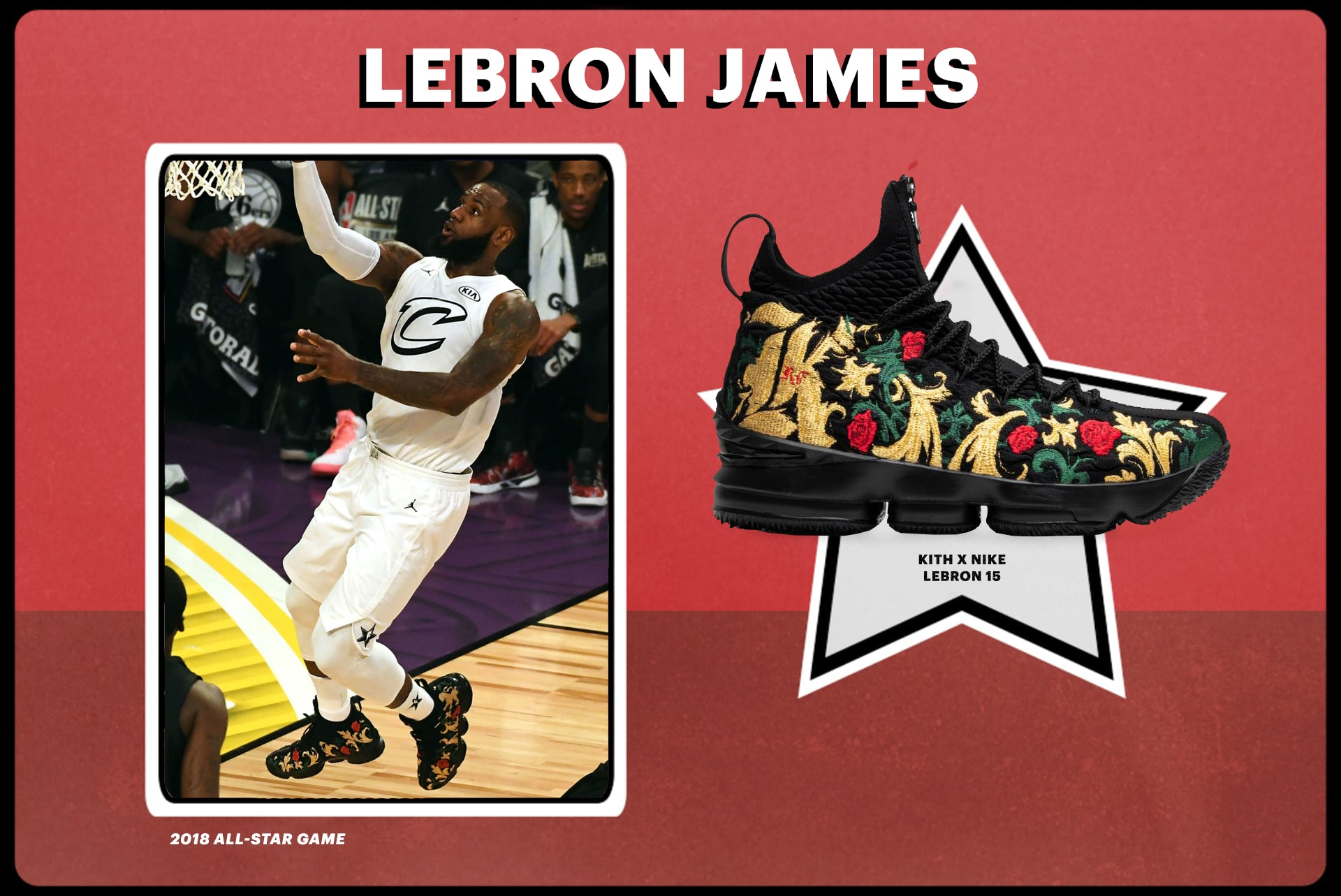 premium selection 6cc14 65a93 2018 LeBron James All-Star Game