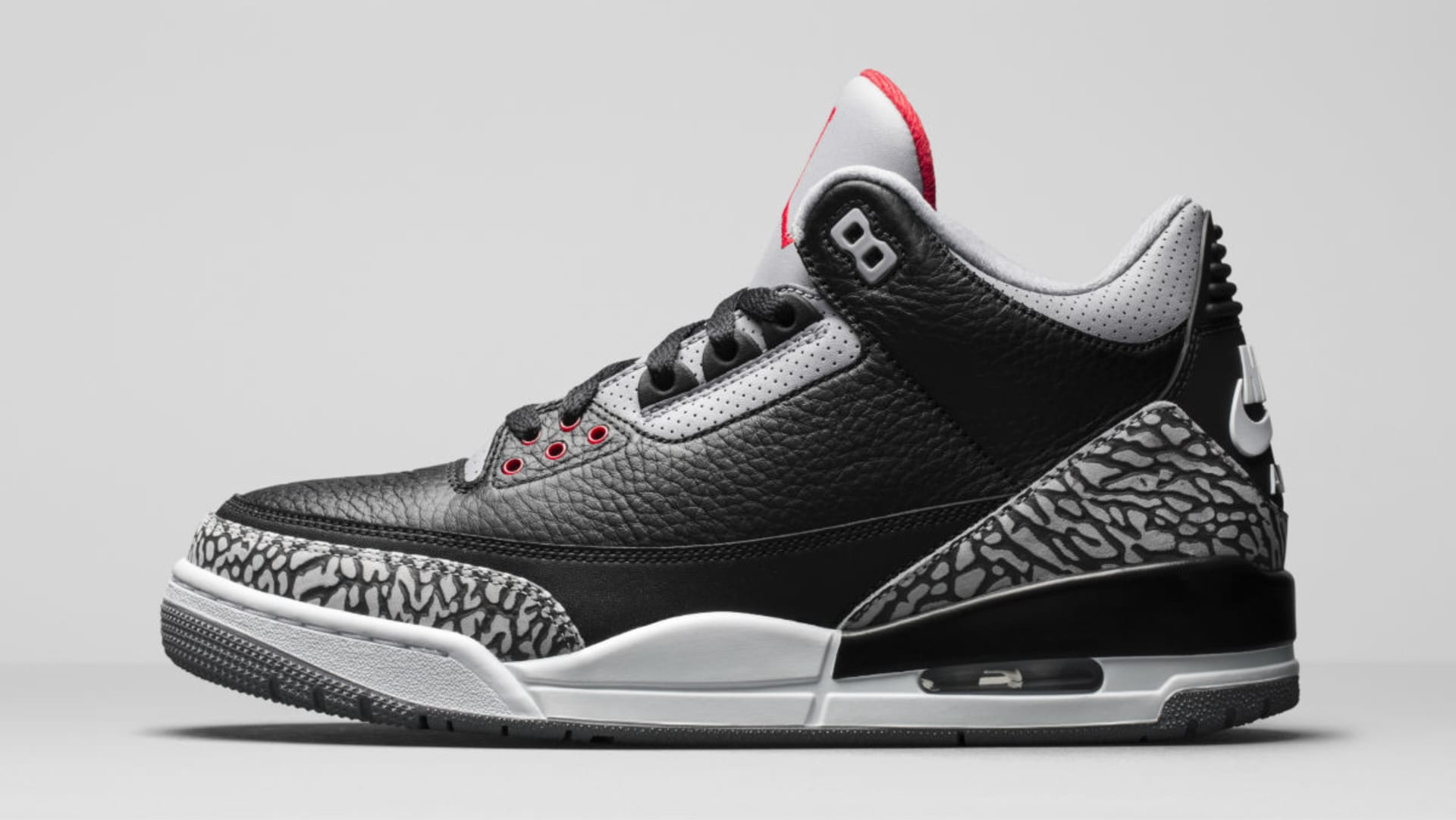 60f1ed2122ad Air Jordan 3 III Black Cement Release Date 854262-001 Profile