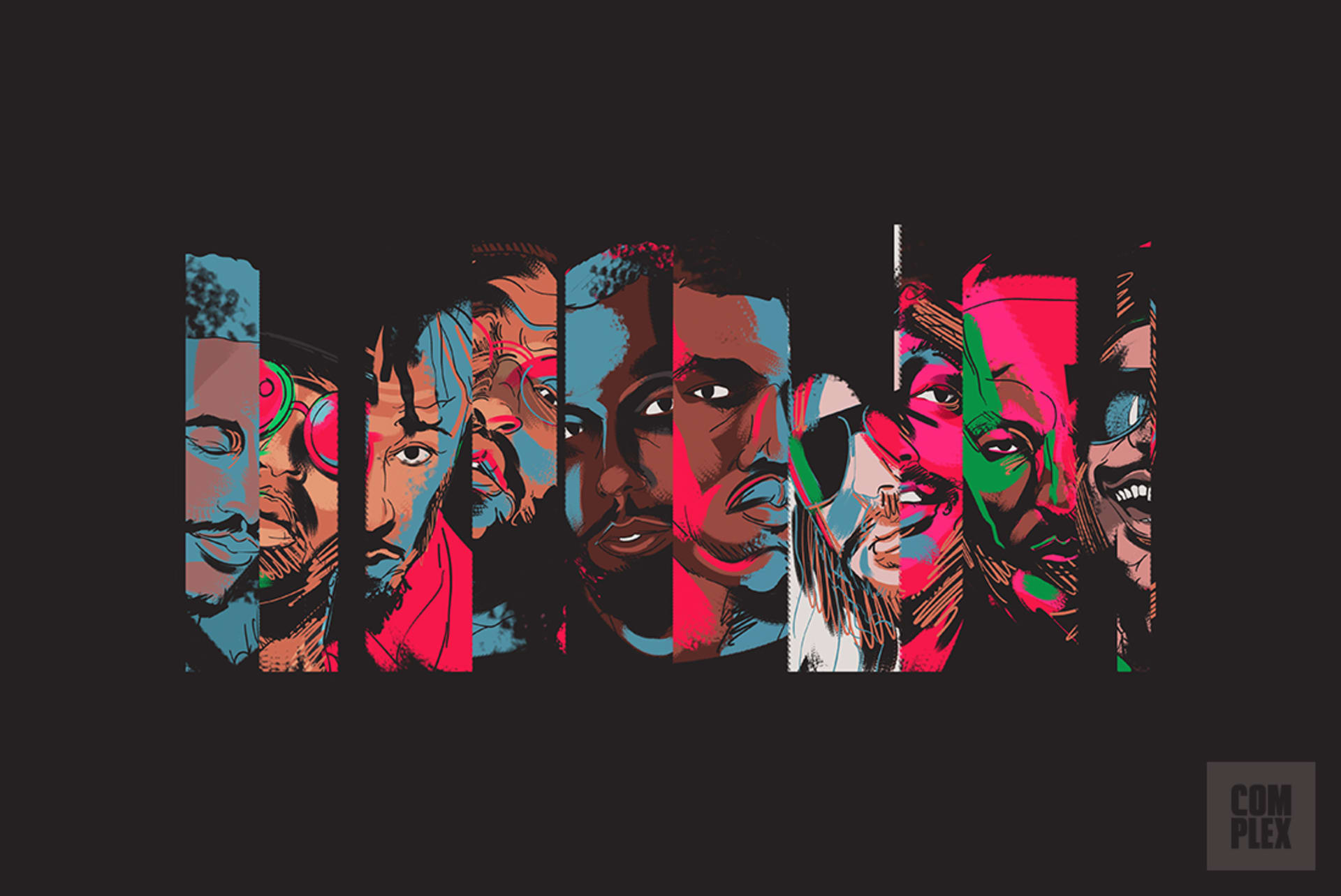 539e90fda09e7 The best hip-hop producers since 1979. Image via Complex Original. Rap  lyrics ...