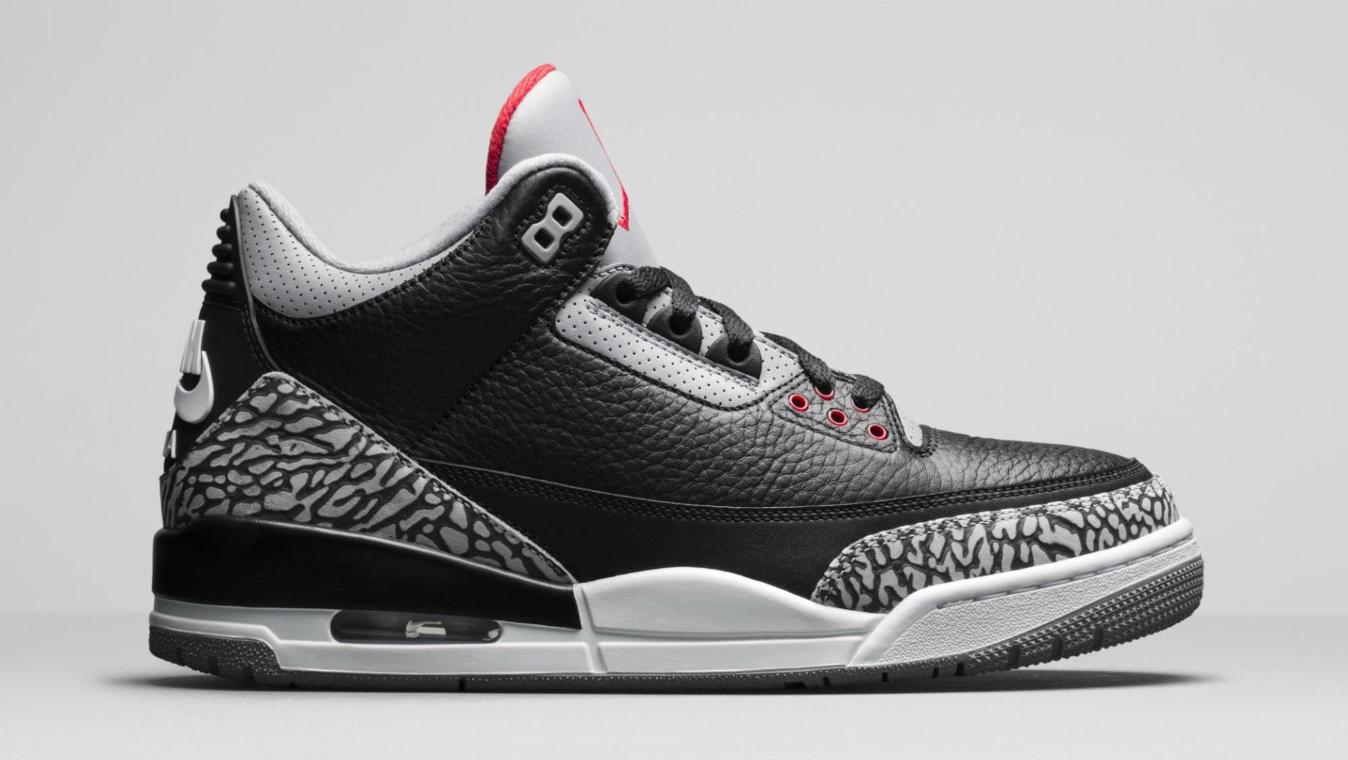 eaf4be32844b Air Jordan 3 III Black Cement Release Date 854262-001