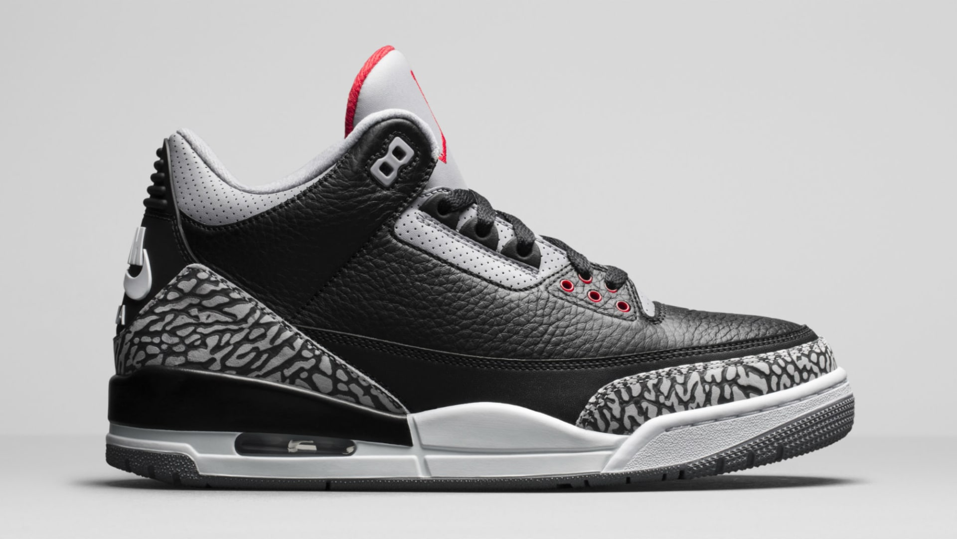 6f5fc8be8 Air Jordan 3 III Black Cement Release Date 854262-001