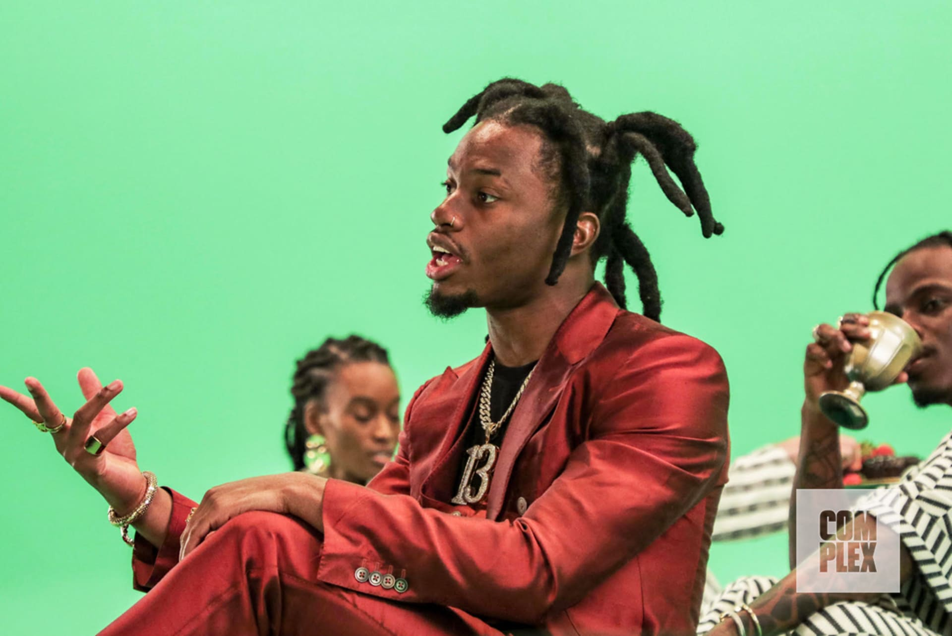 "Denzel Curry at the ""Black Balloons"" music video shoot."
