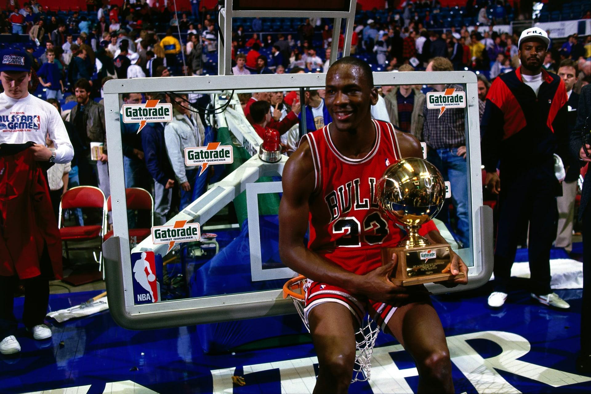 separation shoes 1b4de 01d83 Michael Jordan Slam Dunk Contest 1987 Getty
