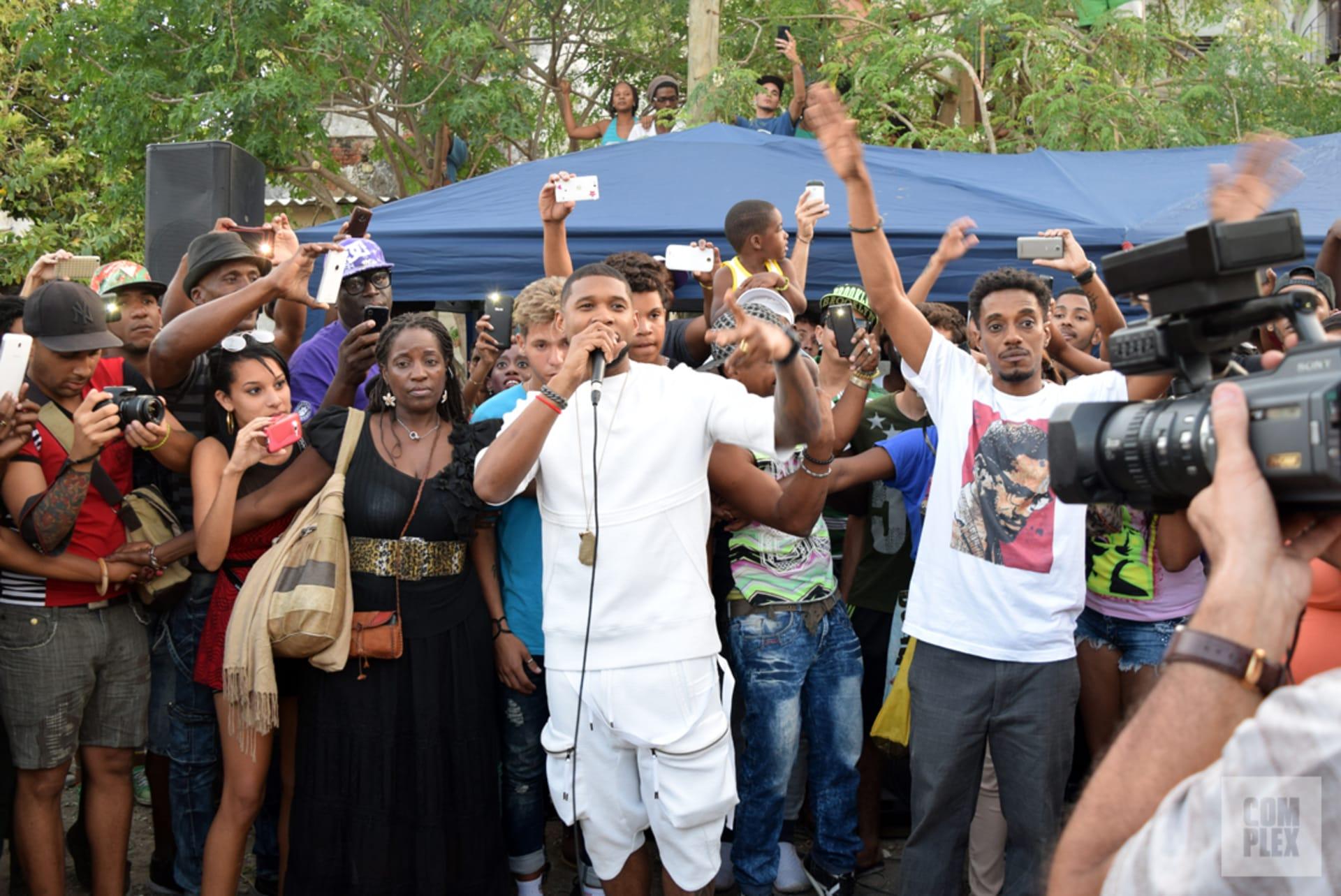 Usher Speaking Cuba