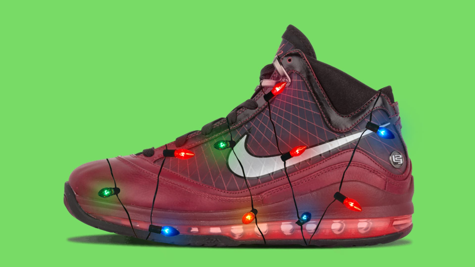 quality design 22465 b3cbc LeBron 7 Christmas Lights