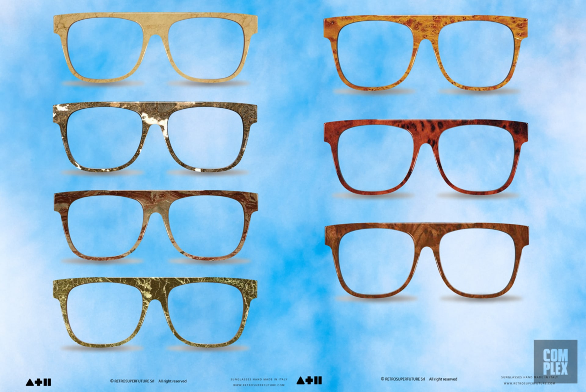 372835c457bf Samples of Pastelle sunglasses designed by Retrosuperfuture