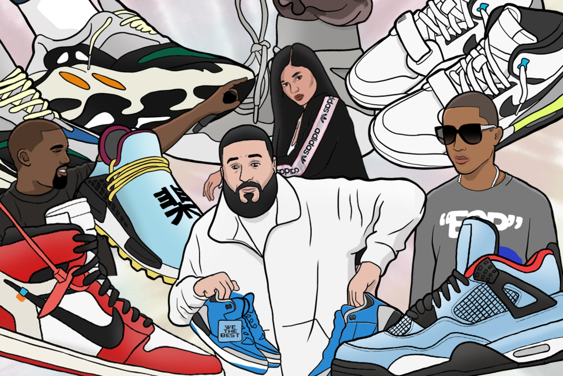 65c6818be84f4a The Most Influential Celebrities in Sneaker Culture Right Now