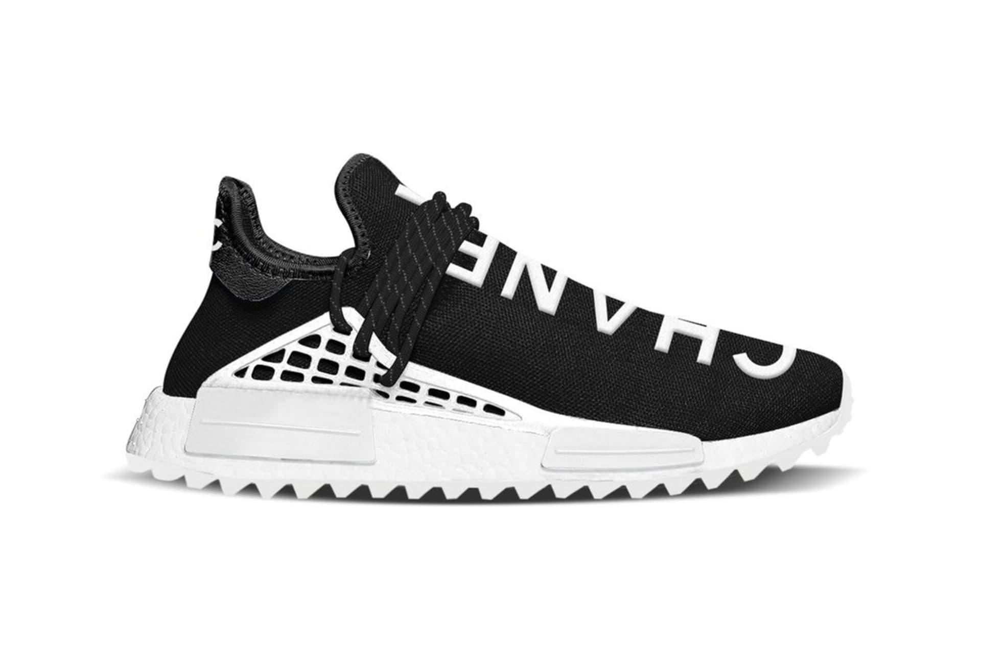68c8ec28d14112 2. Chanel x Adidas Pharrell NMD Hu Race Trail