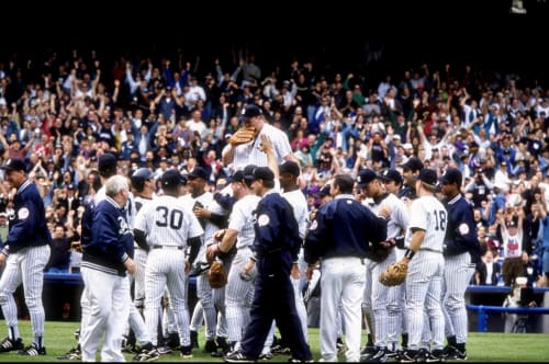 David Wells Carried Off Perfect Game 1998
