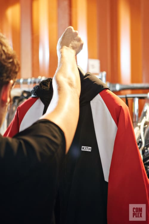 Backstage at Ronnie Fieg's Kith show