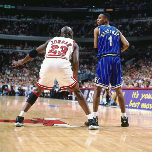 Michael Jordan and Penny Hardaway